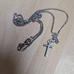 James Avery cross and necklace